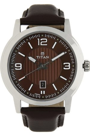 Titan New Gents Men Brown Analogue watch NL1730SL03