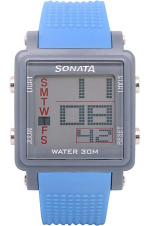 Sonata Men Blue Digital Watch NH77043PP04