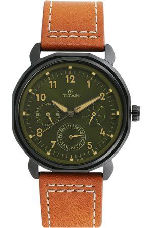 Titan Men Watches - Men & Green Analogue Watch 1753NL01