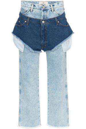 Natasha Zinko High waisted jeans with a denim shorts layer
