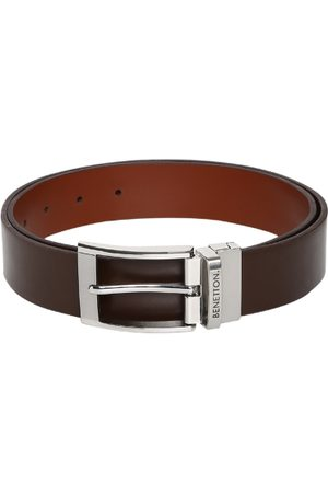 Benetton Men Brown Solid Belt