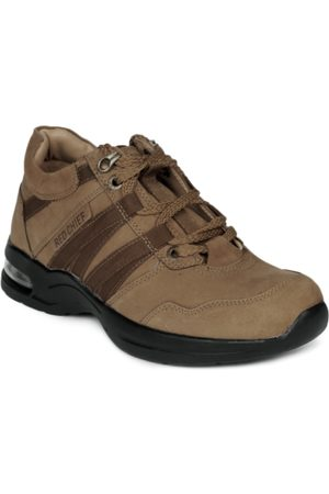 Red Chief Men Brown Leather Shoes