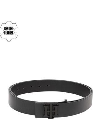 Tommy Hilfiger Men Black Solid Genuine Leather Formal Belt