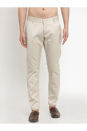 JAINISH Men -Coloured Smart Slim Fit Solid Chinos