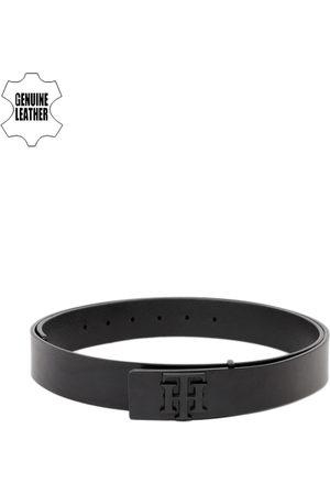 Tommy Hilfiger Men Belts - Men Black Solid Genuine Leather Belt