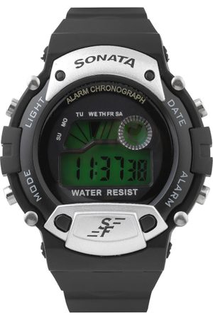 Sonata Men Black Digital Watch NG7982PP02J