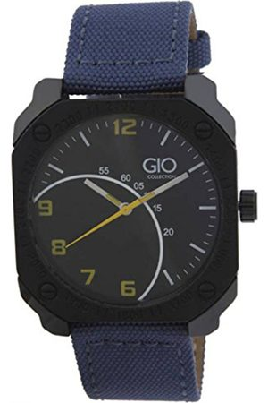 GIO COLLECTION Men Black & Navy Blue Analogue Watch