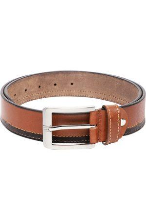 SPYKAR Men Brown & Black Solid Genuine Leather Belt