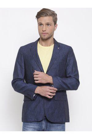 Lombard Men Linen Slim Single-Breasted Casual Blazer