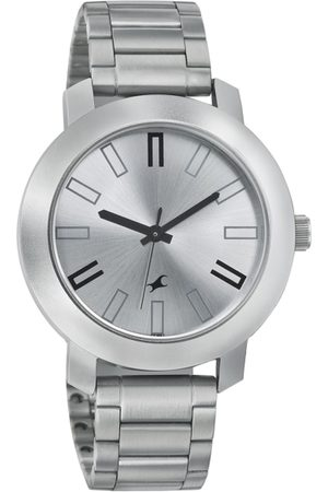 Fastrack Men Silver-Toned Dial Watch 3120SM01
