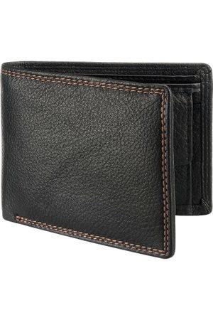 Teakwood Leathers Men Black Solid Two Fold Wallet