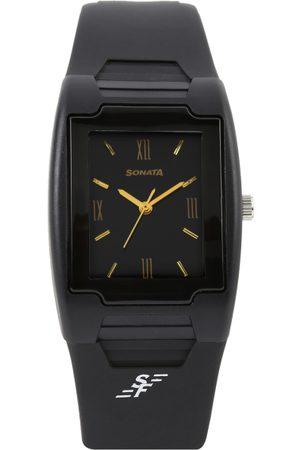 Sonata Men Black Dial Watch NF7920PP13J