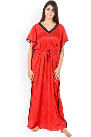 MASHA Women Satin Kaftan Maxi Nightdress NT-233-1115