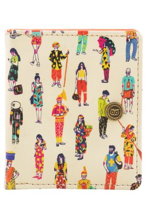 Chumbak Women Off-White Printed Two Fold Wallet