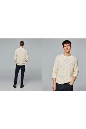 Zara SWEATER WITH FRONT CABLE-KNIT DETAIL