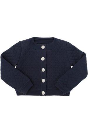 Balmain Quilted Cotton Sweatshirt Jacket