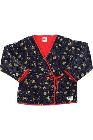American Outfitters Light Padded Velvet Kimono Jacket