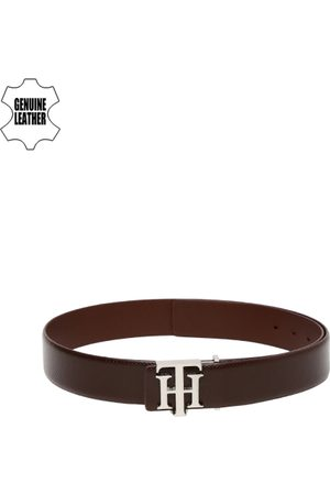Tommy Hilfiger Men Brown Textured Genuine Leather Belt
