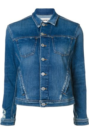 L'Agence Buttoned denim jacket
