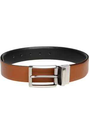 Invictus Men Brown & Black Reversible Leather Belt