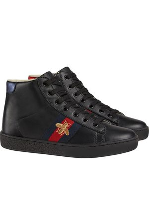 Gucci Boys Sneakers - Children's leather high-top sneakers