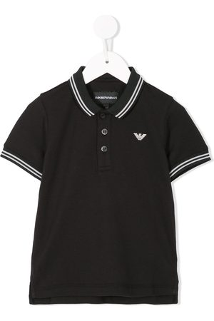 Emporio Armani Boys Polo Shirts - Contrast-trim polo shirt