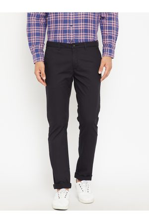 Blackberrys Men Skinny Fit Solid Trousers