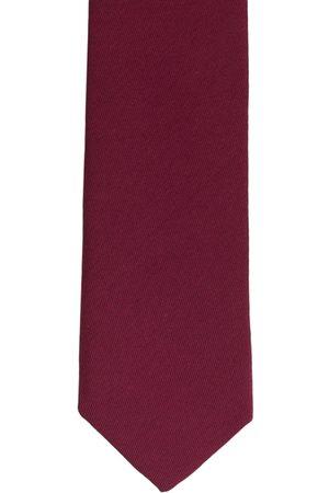 The Tie Hub Maroon Solid Skinny Tie