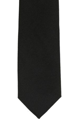 The Tie Hub Black Solid Skinny Tie