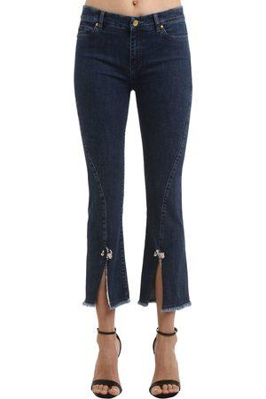 COLIAC Petunia Cropped Stretch Denim Jeans
