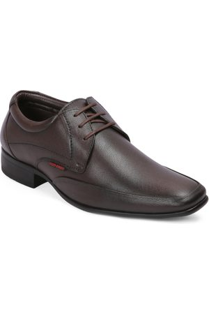 Red Chief Men Brown Formal Leather Derbys