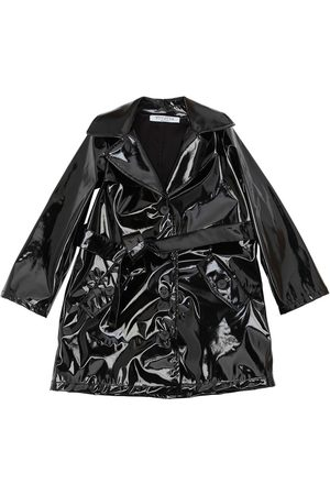 VIVETTA Faux Patent Leather Trench Coat