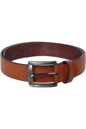 Roadster Men Antique Tan Solid Leather Belt