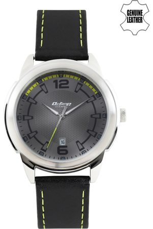 Titan Octane Men Gunmetal-Toned Dial Watch 1585SL10