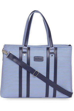 MBOSS Laptop Bags - Unisex Blue Striped Laptop Bag