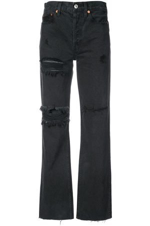 RE/DONE Distressed high waisted jeans