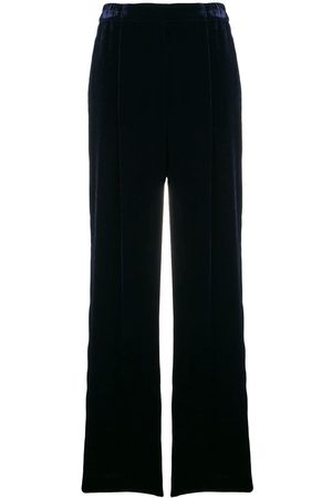 Stella McCartney Women Wide Leg Trousers - Blue