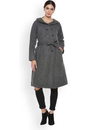 ATHENA Women Grey Trenchcoat