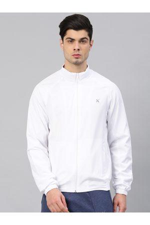 HRX Men White Solid Sporty Jacket