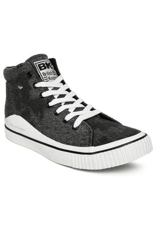 British Knights Men Charcoal Grey GOLF High-Top Sneakers