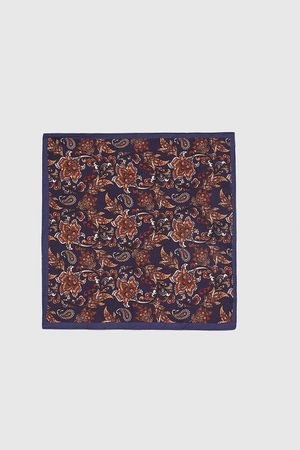 Zara Men Handkerchiefs - PAISLEY EMBELLISHED POCKET SQUARE