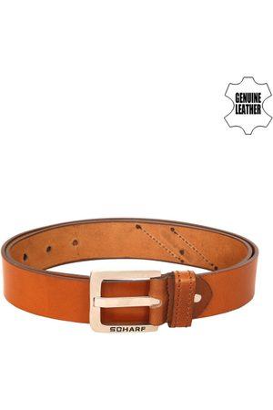 Scharf Men Brown Solid Belt
