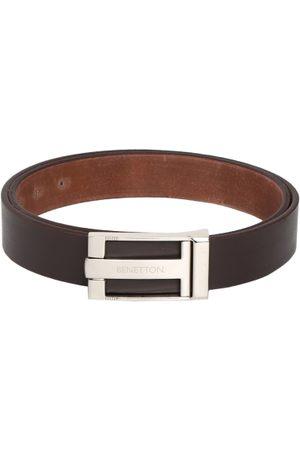 Benetton Men Solid Leather Belt