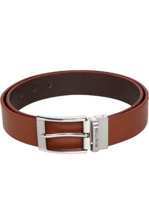 Benetton Men & Brown Solid Belt