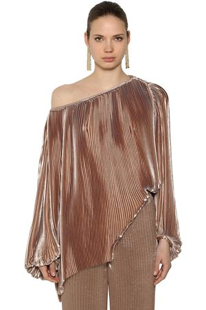 KRIZIA Women Tops - Off The Shoulder Pleated Satin Top