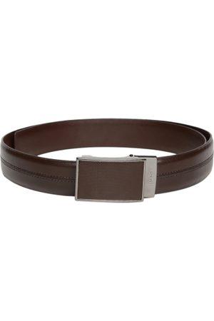 Invictus Men Reversible Leather Textured Belt