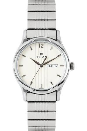 Titan Men Off-White Dial Watch NE1580SM03
