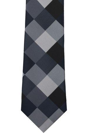 The Tie Hub Black & Grey Checked Broad Tie