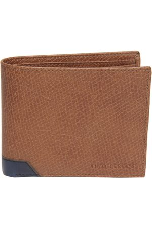 Lino Perros Men Brown Leather Textured Two Fold Wallet