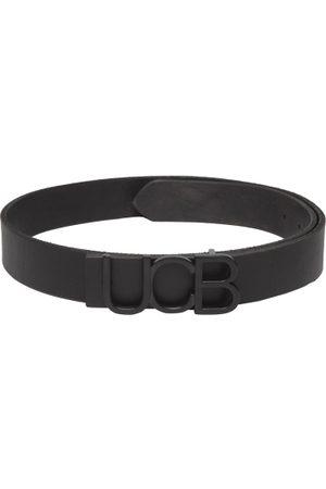 Benetton Men Black Leather Solid Belt